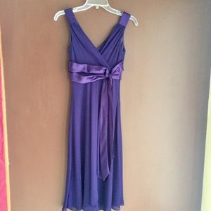 Deep Purple Sleeveless Cocktail Dress